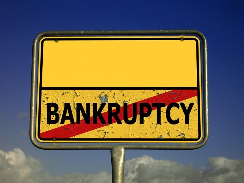 Bankruptcy Town Sign